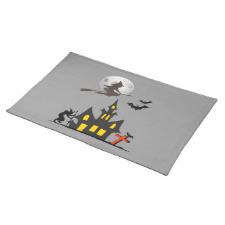 Halloween Haunted House Placemats