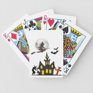 Halloween Haunted House Playing Cards