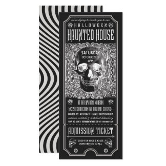 Halloween Haunted House Ticket Invitations v.3