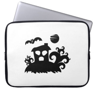 Halloween Haunted House with Bat Laptop Computer Sleeve