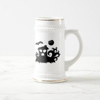 Halloween Haunted House with Bat Coffee Mug