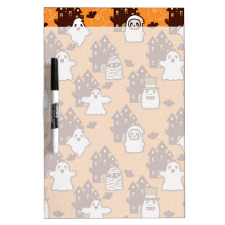 Halloween Haunted Houses Dry Erase Boards