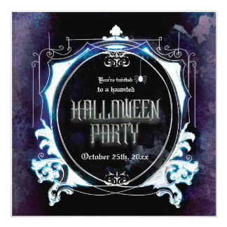 Halloween Haunted Party Invitation Spooky Vintage