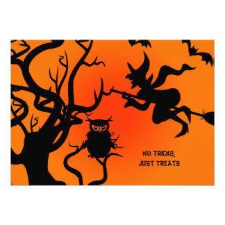 Halloween Haunted Place Party Invitation 5 x 7