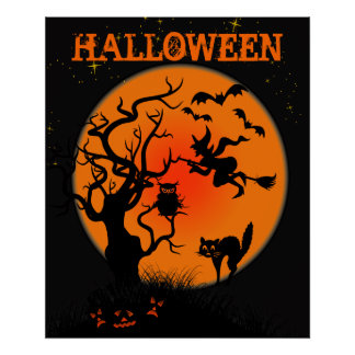 Halloween Haunted Place Poster
