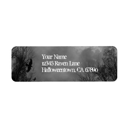 Halloween Haunted Sky Return Address Labels