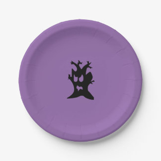 Halloween Haunted Tree Paper Plate