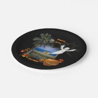 Halloween Hawaiian Style 7 Inch Paper Plate