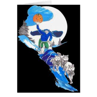 Halloween Headless Musher Notecard
