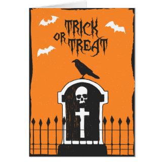 Halloween Headstone Card