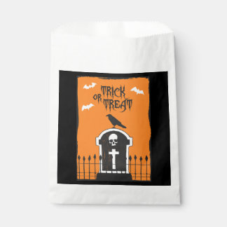 Halloween Headstone Favor Bag