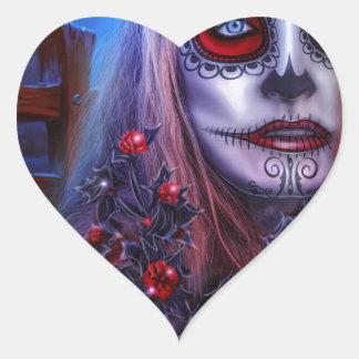 halloween heart sticker