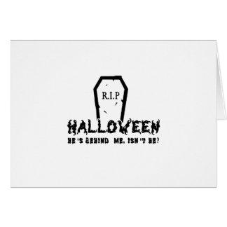 Halloween He's behind Card
