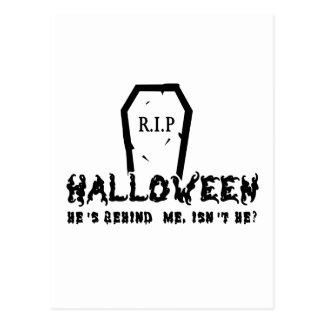 Halloween He's behind Postcard