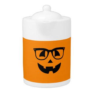 Halloween Hipster Pumpkin Pattern