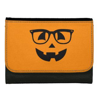 Halloween Hipster Pumpkin Pattern Wallets For Women