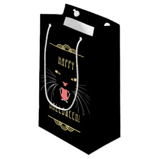 Halloween Hissing Cat Black Elegant Fun Gift Bag