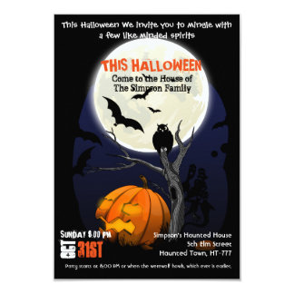 Halloween Horror Movie Poster Styled Invitation