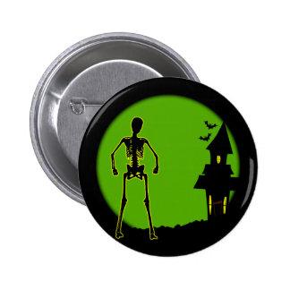 Halloween House 6 Cm Round Badge