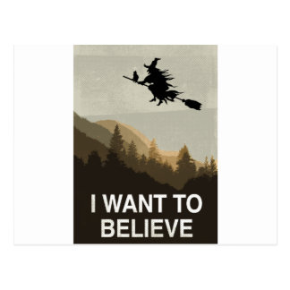 Halloween: I want to believe Postcard