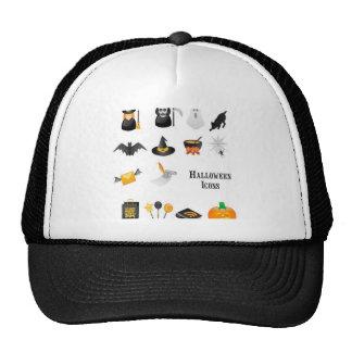 Halloween icon set design hat