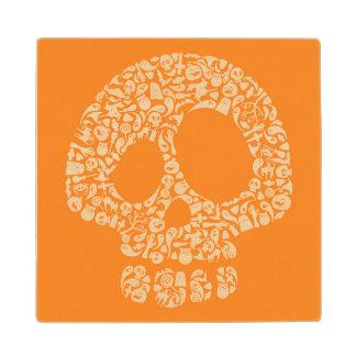 Halloween Icons - Skull Wood Coaster