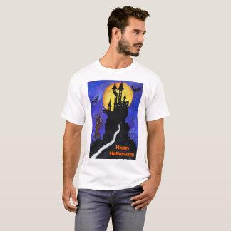 Halloween Illustartion Men's Basic T-Shirt, White T-Shirt
