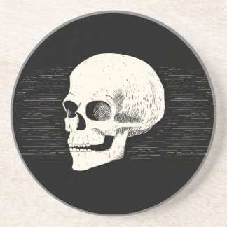 Halloween Illustrated Skull | Sandstone Coaster