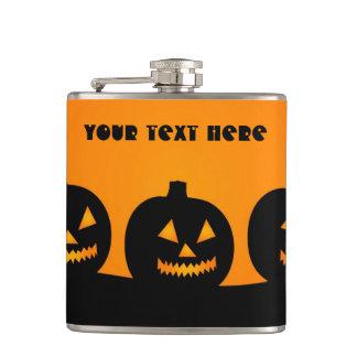 Halloween Illustration custom flask