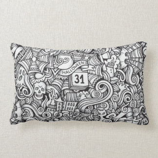 Halloween Illustration Lumbar Cushion