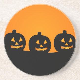 Halloween Illustration Sandstone Coaster