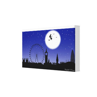 Halloween in London Town Canvas Print