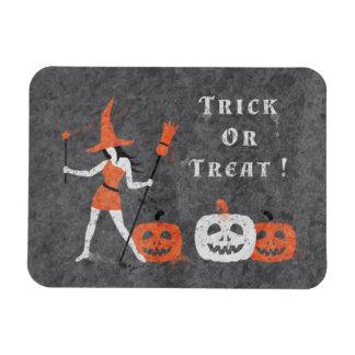 Halloween Ink Witch Rectangular Photo Magnet