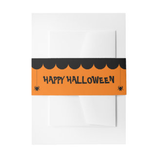 Halloween Invitation Belly Band