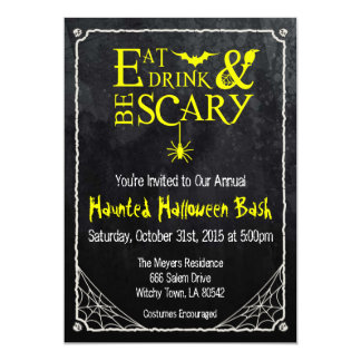 Halloween Invitation Eat Drink and Be Scary