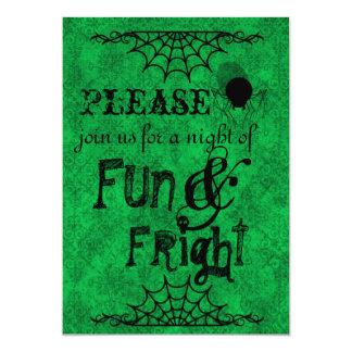 Halloween Invitation in Bright Green