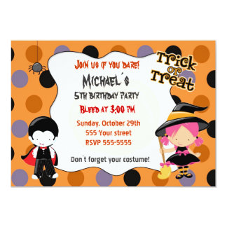 Halloween Invitation Kids Birthday Party