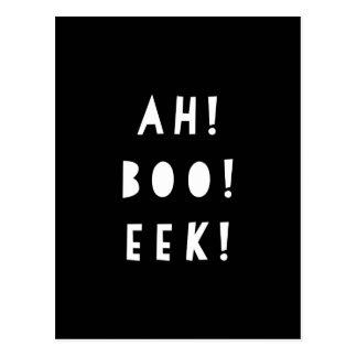 Halloween Invitation Postcard | AH BOO EEK!