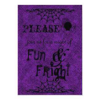 Halloween Invitations in Purple