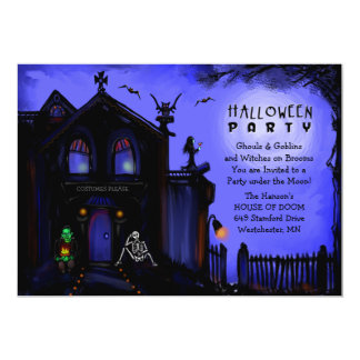 Halloween Invite - Haunted House Halloween Party