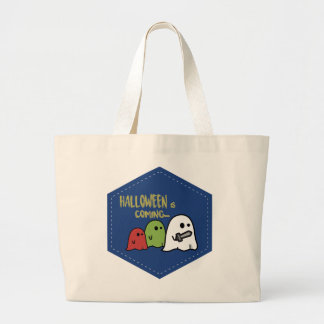 Halloween is coming large tote bag