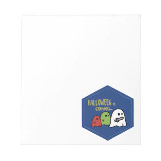 Halloween is coming notepad