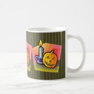 Halloween Jack o lantern and Candle Classic White Coffee Mug