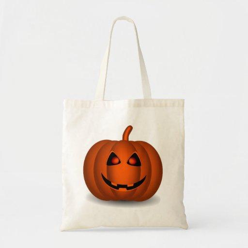 Halloween Jack-O-Lantern Canvas Bags