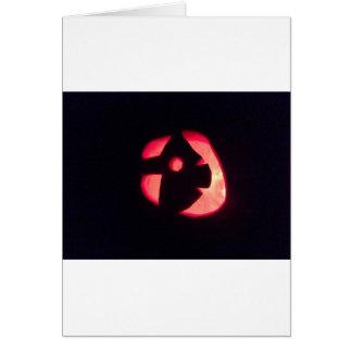 Halloween Jack o' Lantern Greeting Card