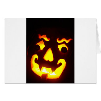 Halloween Jack-O-Lantern Greeting Card