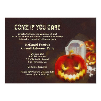 Halloween Jack O' Lantern Costume Party Invitation