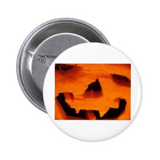 Halloween Jack-O-Lantern Face Pinback Button