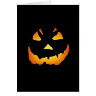 Halloween: Jack-o-Lantern Face: Greeting Card