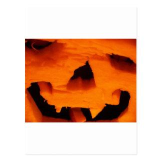 Halloween Jack-O-Lantern Face Post Cards